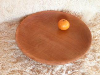 Grand plat en bois de merisier