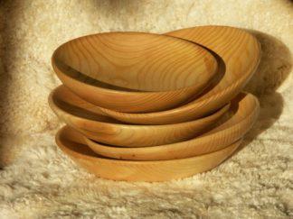 Assiettes creuses en bois de frêne