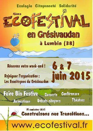 Ecofestival en Grésivaudan à Lumbin (Isère) les 6 et 7 juin 2015