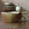 Kuksa en érable, modèle avec deux trous pour les doigts