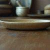 Assiette en frêne ondé