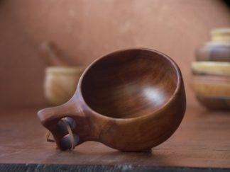 Kuksa en bois de pommier ou d'érable, fabrication artisanale, pièce unique