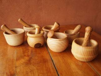 Mortiers en bois