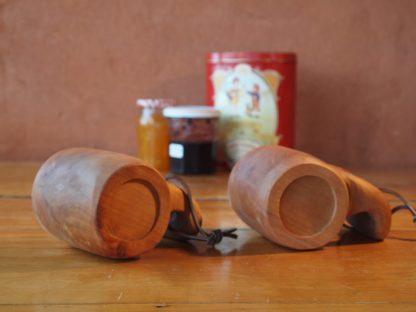Mug amoureux en bois de pommier