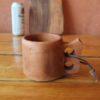 Mug en bois de pommier