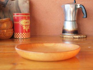 Assiette médiévale en bois de poirier