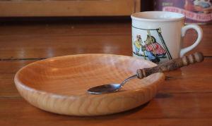 Assiettes en bois pour enfant